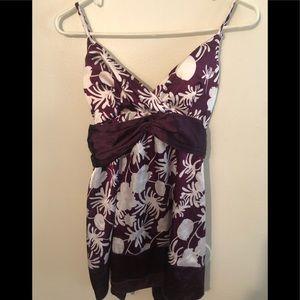 Charlotte Russe silk sleeveless top